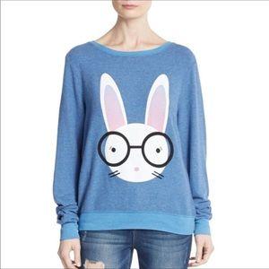 Wildfox geeky bunny soft sweatshirt